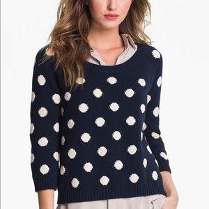 Lucky Brand | Paula Polka Dot Sweater Blue Large